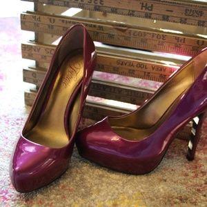Fergie purple heels size 7